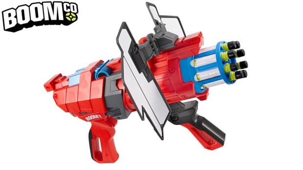 Naming : Boomco, pistolets à fléchettes de Mattel